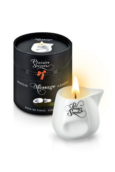 Массажная свеча Plaisirs Secrets Coconut (80 мл)