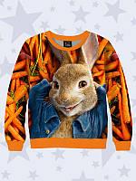 Світшот 3D Кролик Петрик Морквяний рай, фото 1