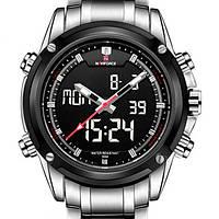 Спортивные Мужские часы Naviforce Aero Silver
