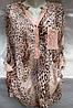 Блуза из штапеля леопардовая женская батальная