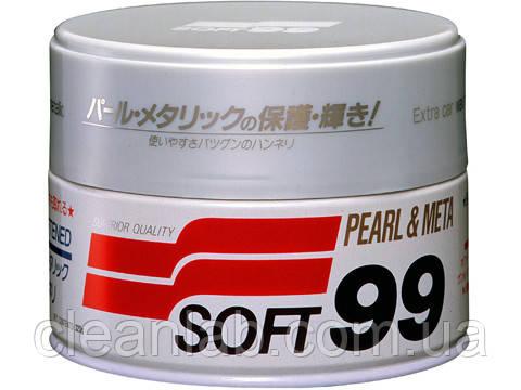 Полироль Soft99 00027 Pearl & Metalik Soft Wax — очищающий, для светлых металликов, фото 2