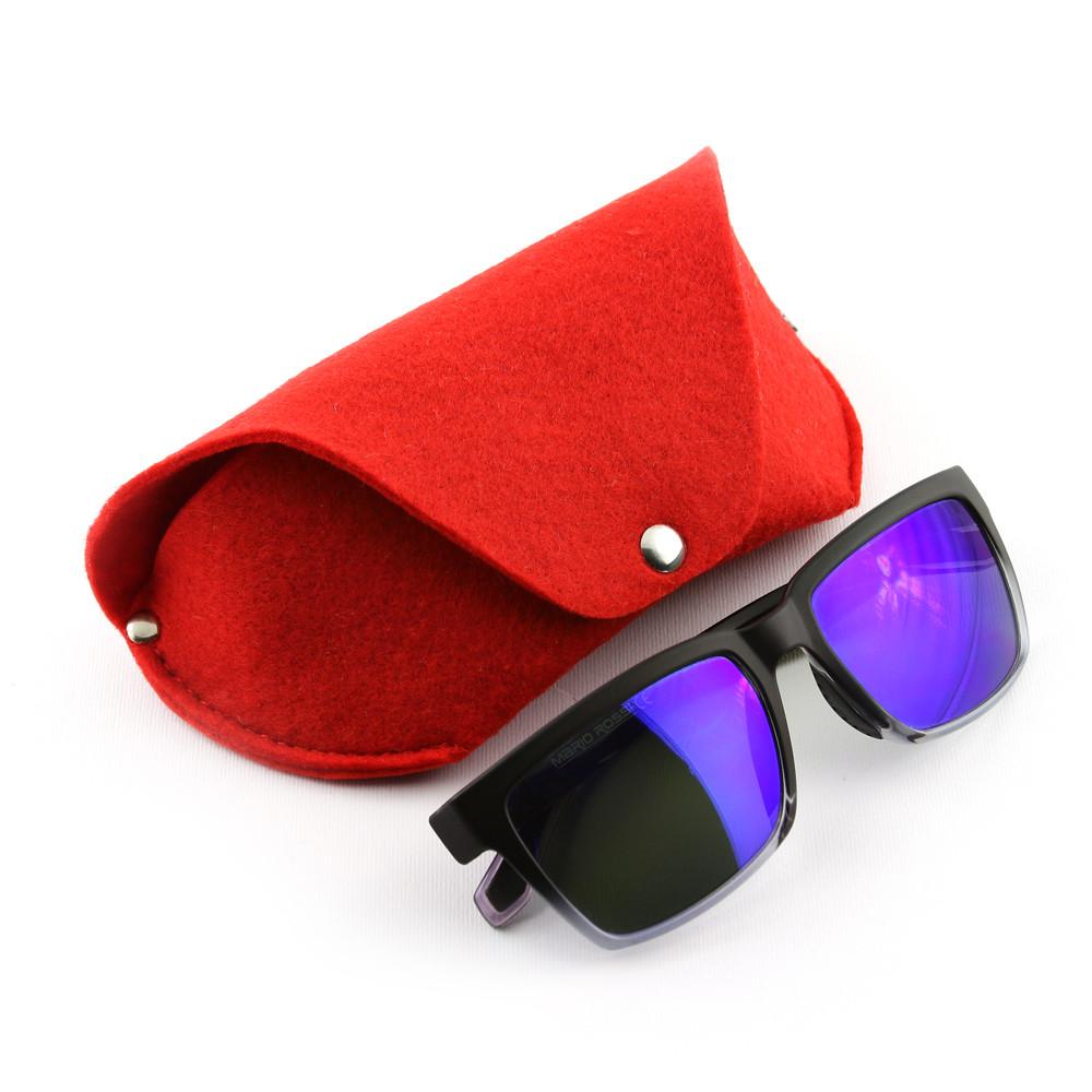 Футляр для очков на кнопке Digital Wool (Color) красный