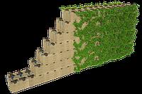 """Система бетонных блоков для """"зеленых стен"""", размер 390*190*190"""