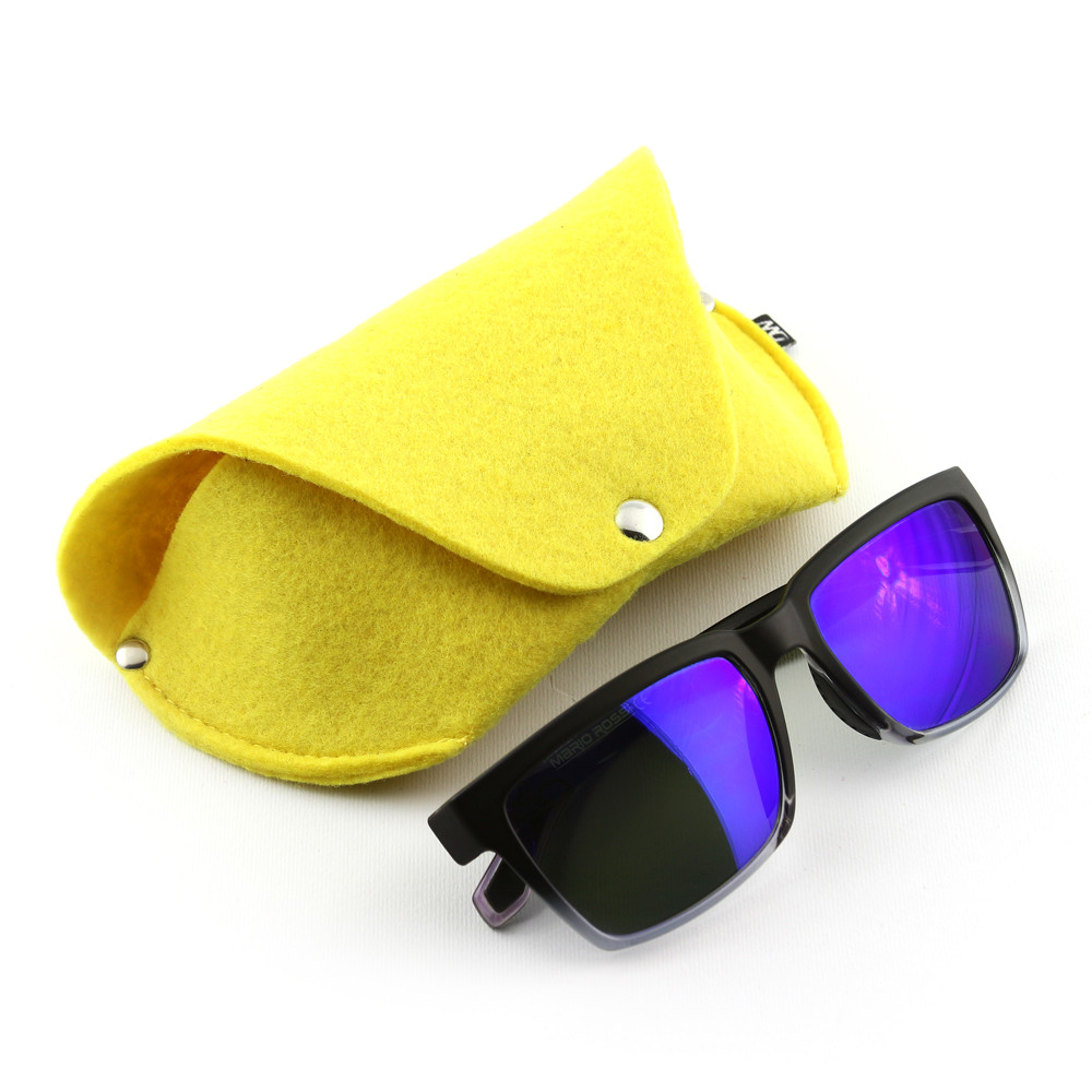 Футляр для очков на кнопке Digital Wool (Color) желтый