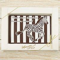 """Шоколадная открытка """"Пусть в жизни будет... """" классическое сырье. Размер: 187х142х10мм, вес 170г, фото 1"""