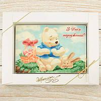 """Шоколадная открытка """"С днем рождения!"""" классическое сырье. Размер: 187х142х10мм 170г, фото 1"""
