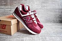 New Balance 574 мужские замшевые красные