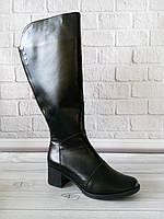 Высокие кожаные сапоги от производителя, фото 1