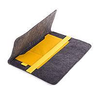 Чехол для ноутбука Digital Wool Case 13 с желтой резинкой