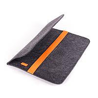Чехол для ноутбука Digital Wool Case 13 с оранжевой резинкой, фото 1