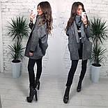 Женское твидовое объемное пальто на подкладке, фото 2