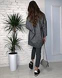 Женское твидовое объемное пальто на подкладке, фото 3