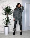 Женское твидовое объемное пальто на подкладке, фото 4
