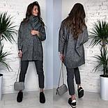 Женское твидовое объемное пальто на подкладке, фото 5