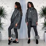 Женское твидовое объемное пальто на подкладке, фото 6