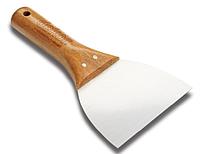 Шпатель soft grip  н\ж с деревянной ручкой 120 мм Dekor Hassan