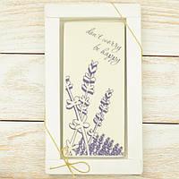"Шоколадная открытка "" Don't worry. Be happy "" классическое сырье. Размер: 180х120х5мм, вес 90г, фото 1"