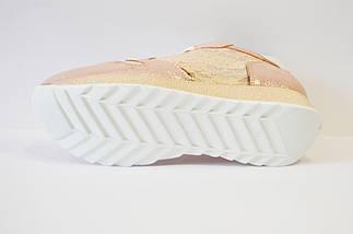 Кросівки жіночі з вишивкою пудра Tucino, фото 3