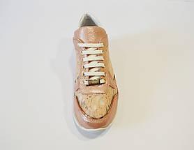 Кросівки жіночі з вишивкою пудра Tucino, фото 2