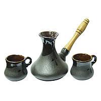 Набор из керамики Восточный ( турка 400 мл и 2 чашки 100 мл )