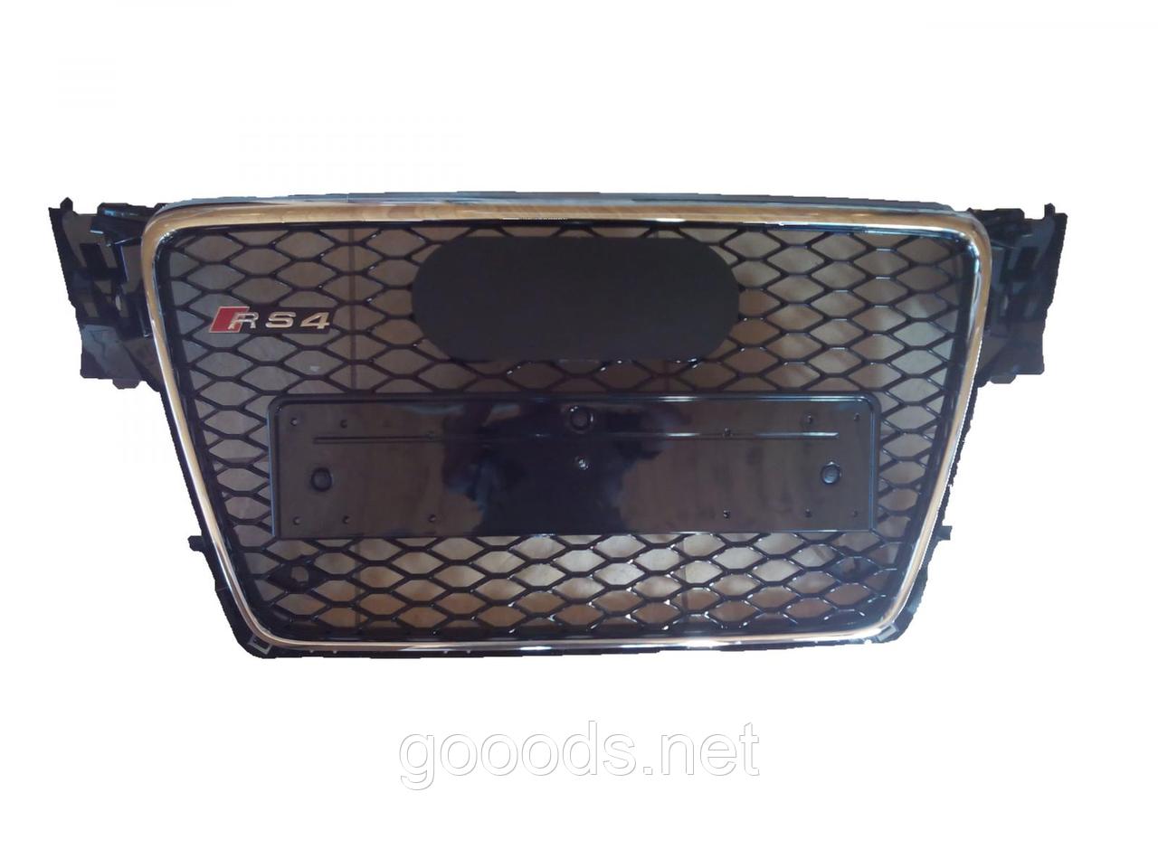 Решетка радиатора Audi A4 стиль RS4 (08-12)