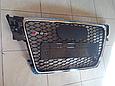 Решетка радиатора Audi A4 стиль RS4 (08-12), фото 2
