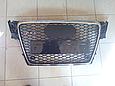 Решетка радиатора Audi A4 стиль RS4 (08-12), фото 4