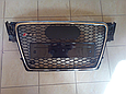 Решетка радиатора Audi A4 стиль RS4 (08-12), фото 5