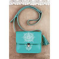 Кожаная женская сумка с художественной росписью, фото 1