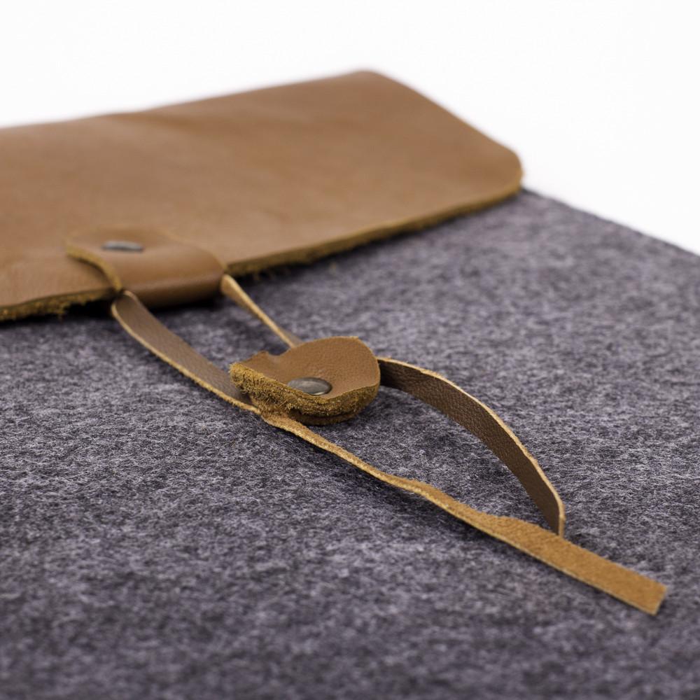 Чехол для ноутбука Digital Wool Case 13 кожаный клапан