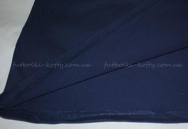 Тёмно-синяя мужская футболка плотная мягкая