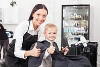 Пеньюар парекмахерский с логотипом на заказ (печать логотипа на парекмахерском пеньюаре)