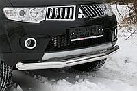Защитная дуга по бамперу Mitsubishi Pajero Sport (2008 -...) одинарная