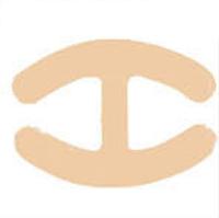Страплесс клипса - соединитель для бретелей бюстгальтера и корректировки формы груди Н-образная, бежевая