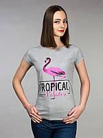 Футболка серая Tropical, фото 1