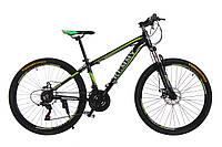 """Велосипед 26"""" Remmy ASTOR 15"""" AM DD черно-зеленый (м) AL"""