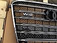 Решетка радиатора D-4 W12 (с Night Vision) на Audi A8 2011-2014, фото 2
