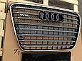 Решетка радиатора D-4 W12 (с Night Vision) на Audi A8 2011-2014, фото 3