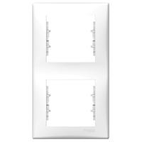 Рамка 2-местная верт Белый Sedna Schneider, SDN5801121