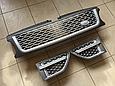 Решетка радиатора и жабры Range Rover Sport (2009-2013) Серая, фото 2
