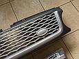Решетка радиатора и жабры Range Rover Sport (2009-2013) Серая, фото 5