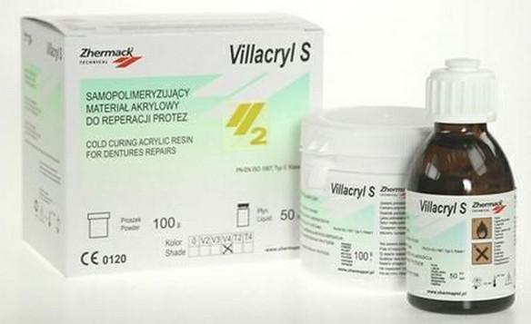 Пластмасса Villacryl S (Вилакрил С) холодной полимеризации для починок протезов, 100гр+50мл T4 - розовый