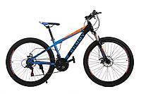 """Велосипед 26"""" Remmy VICTORY AM DD 14"""" (черно-оранжево-голубой глянец)"""