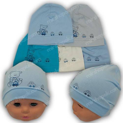 Детские шапки для новорожденных мальчиков, р. 36-38