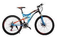"""Велосипед 26"""" Remmy GARA AM2 DD 19"""" (светло сине-чорно-оранжевый глянец)"""