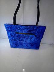 Женская сумочка «Велюр» с длинной ручкой 23х34 см
