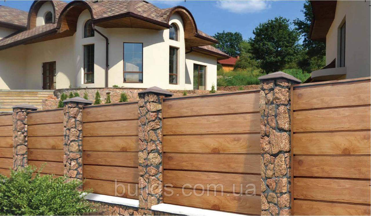 Забор из металла,профлист,евроштакетник,дерево