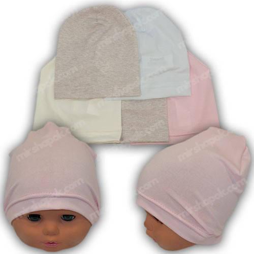 Трикотажные шапочки для новорожденных, р. 38-40