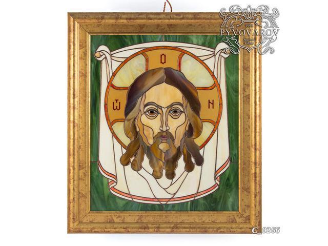 Картина из цветного стекла Спас