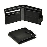 Кожаный мужской кошелек Dr. Bond черного цвета. Портмоне.